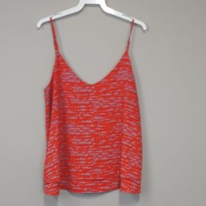 Evereve Allison Joy red printed layered tank top